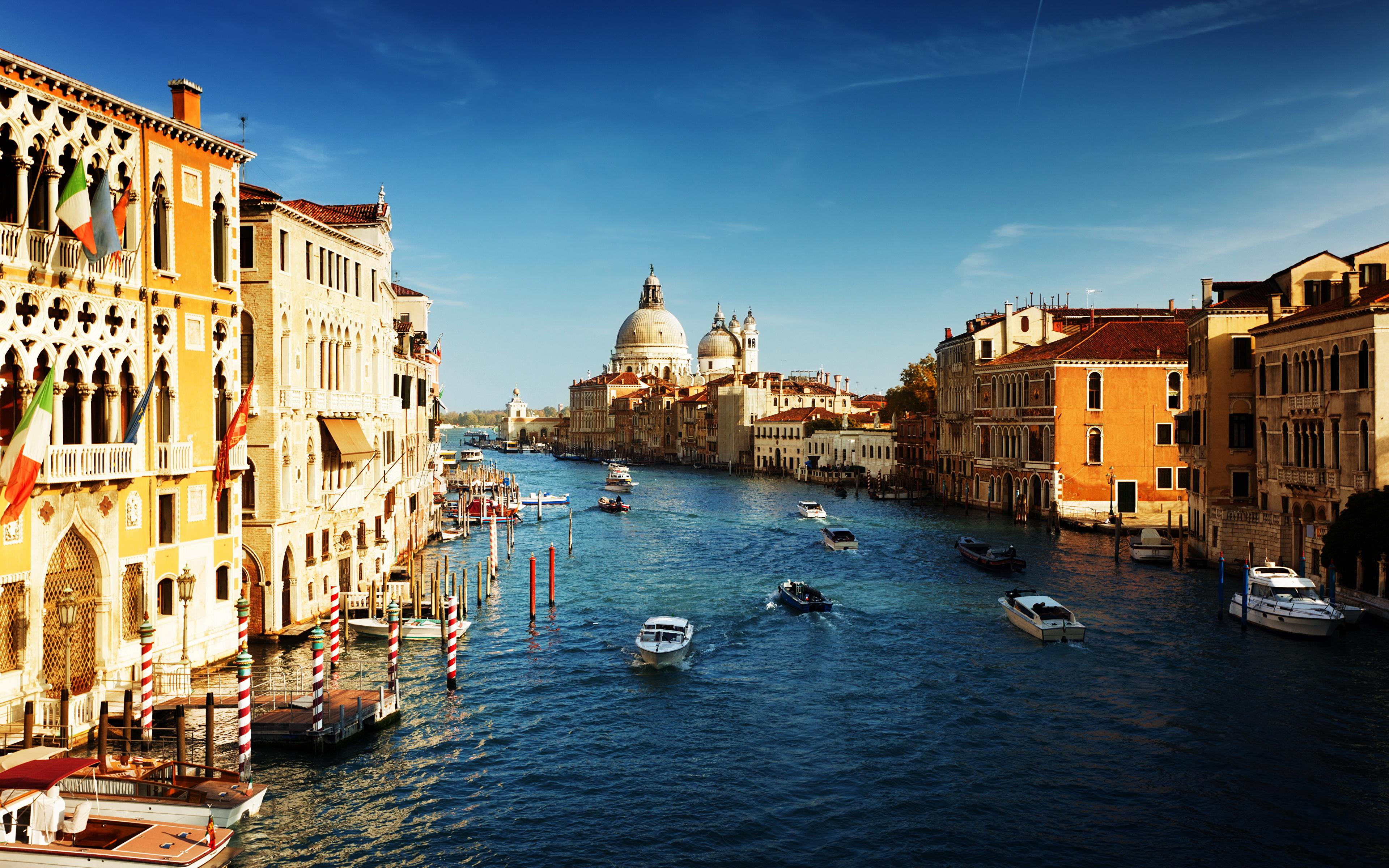 Обои дома, grand canal, водный канал, катера, венеция. Города foto 11