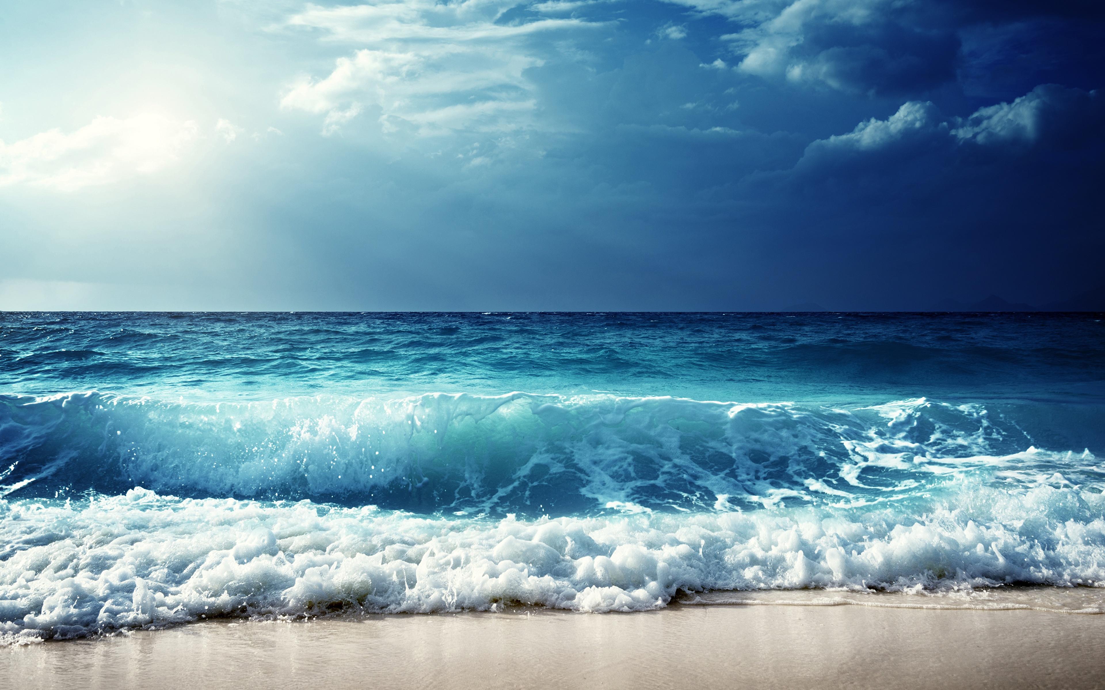Обои волны, горизонт. Природа foto 6