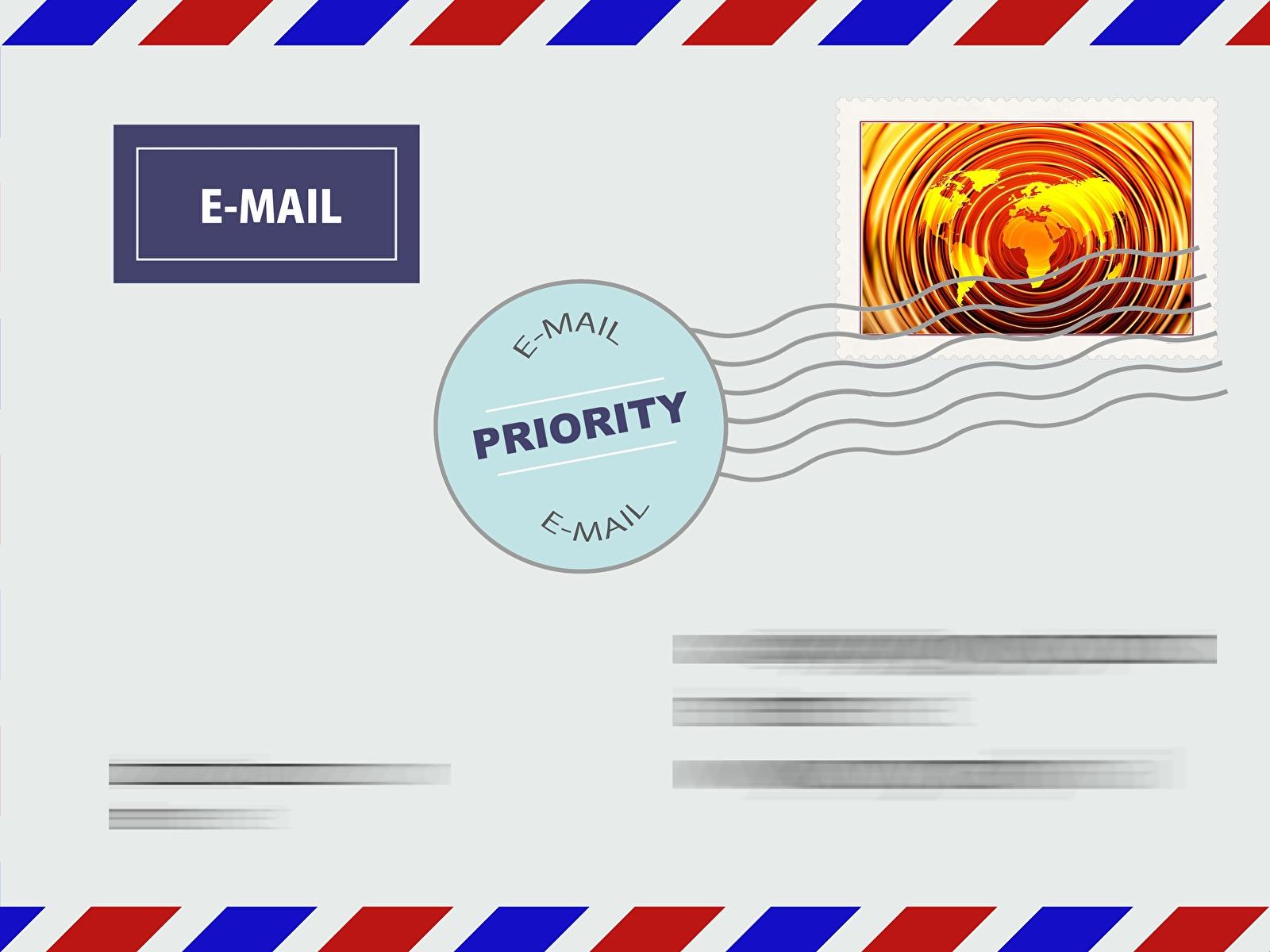 Фотографии Конверт post письма Векторная графика 1600x1200 Письмо