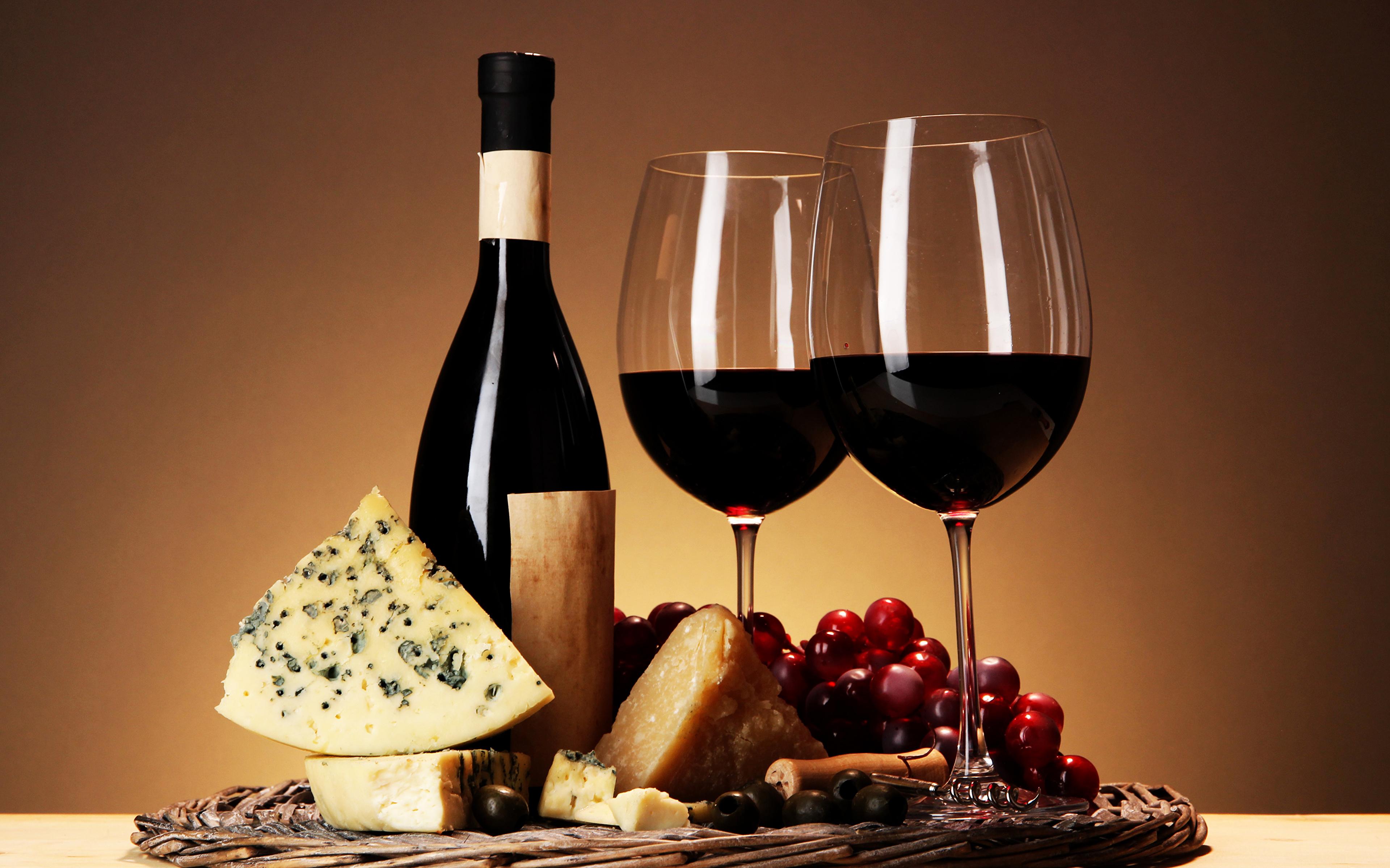 Обои вино, wine, виноград, Grapes, сыр, бутылка, красное, cheese. Еда foto 9
