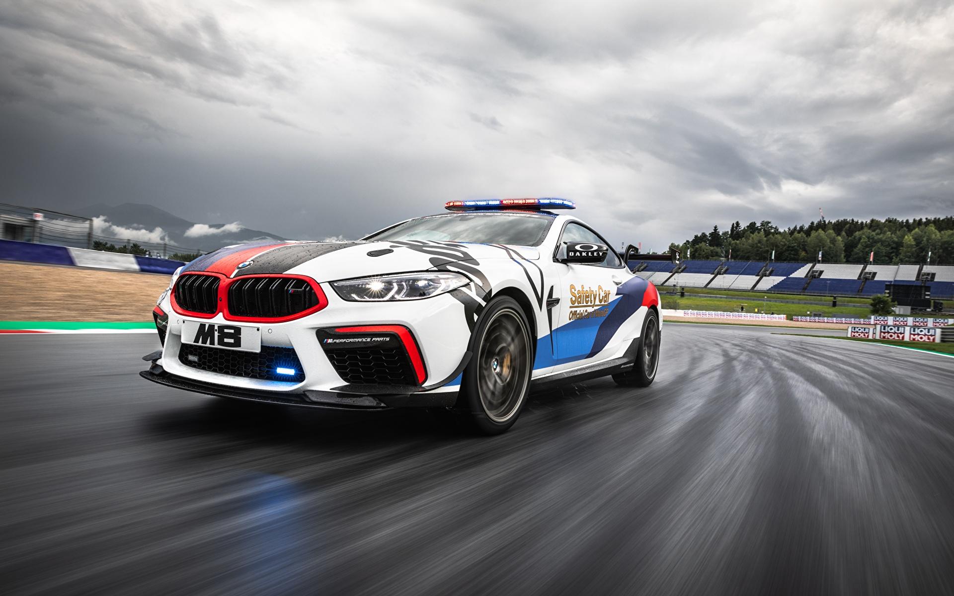 Картинка БМВ Тюнинг MotoGP M8 F92 Движение Автомобили 1920x1200 BMW Стайлинг едет едущий едущая скорость авто машина машины автомобиль