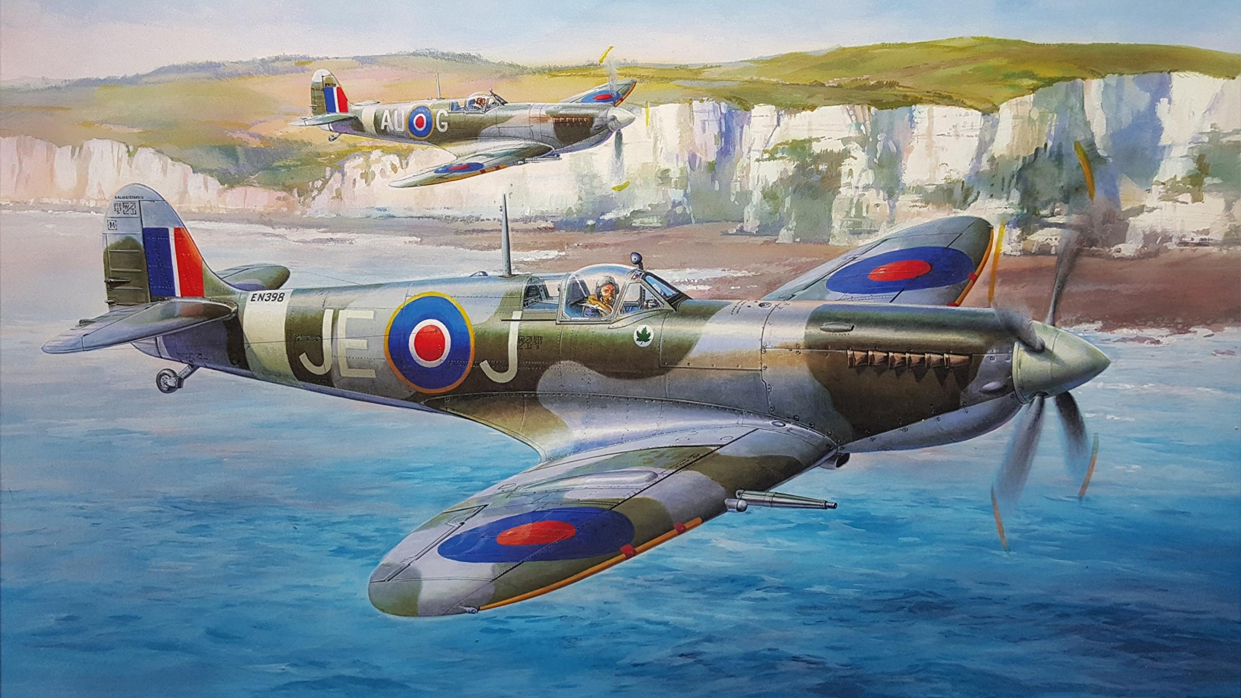 Обои spitfire, mk.ixc, Supermarine. Авиация foto 11