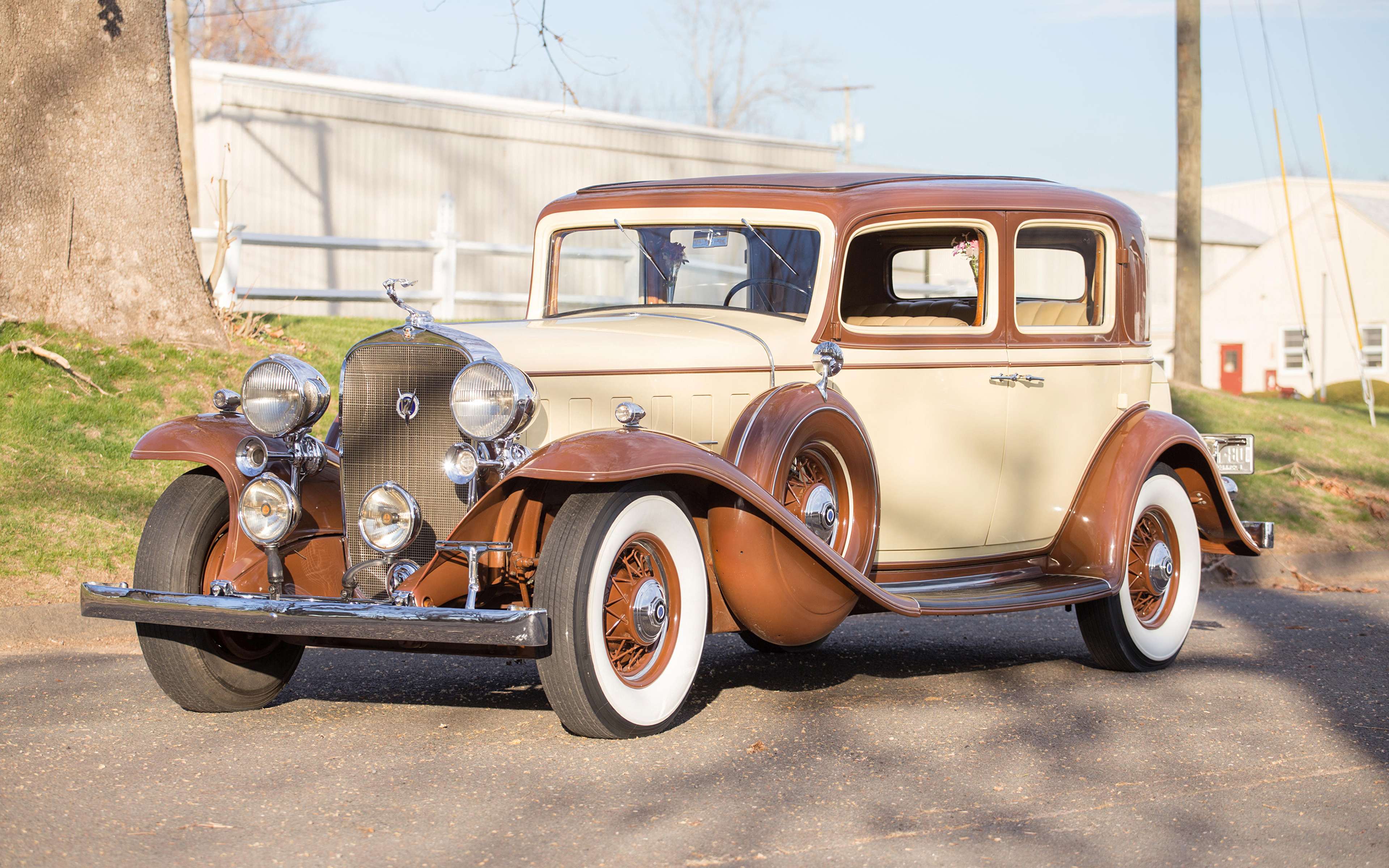 Фото Кадиллак 1932 V12 370-B Town Sedan by Fisher авто 3840x2400 Cadillac машина машины Автомобили автомобиль