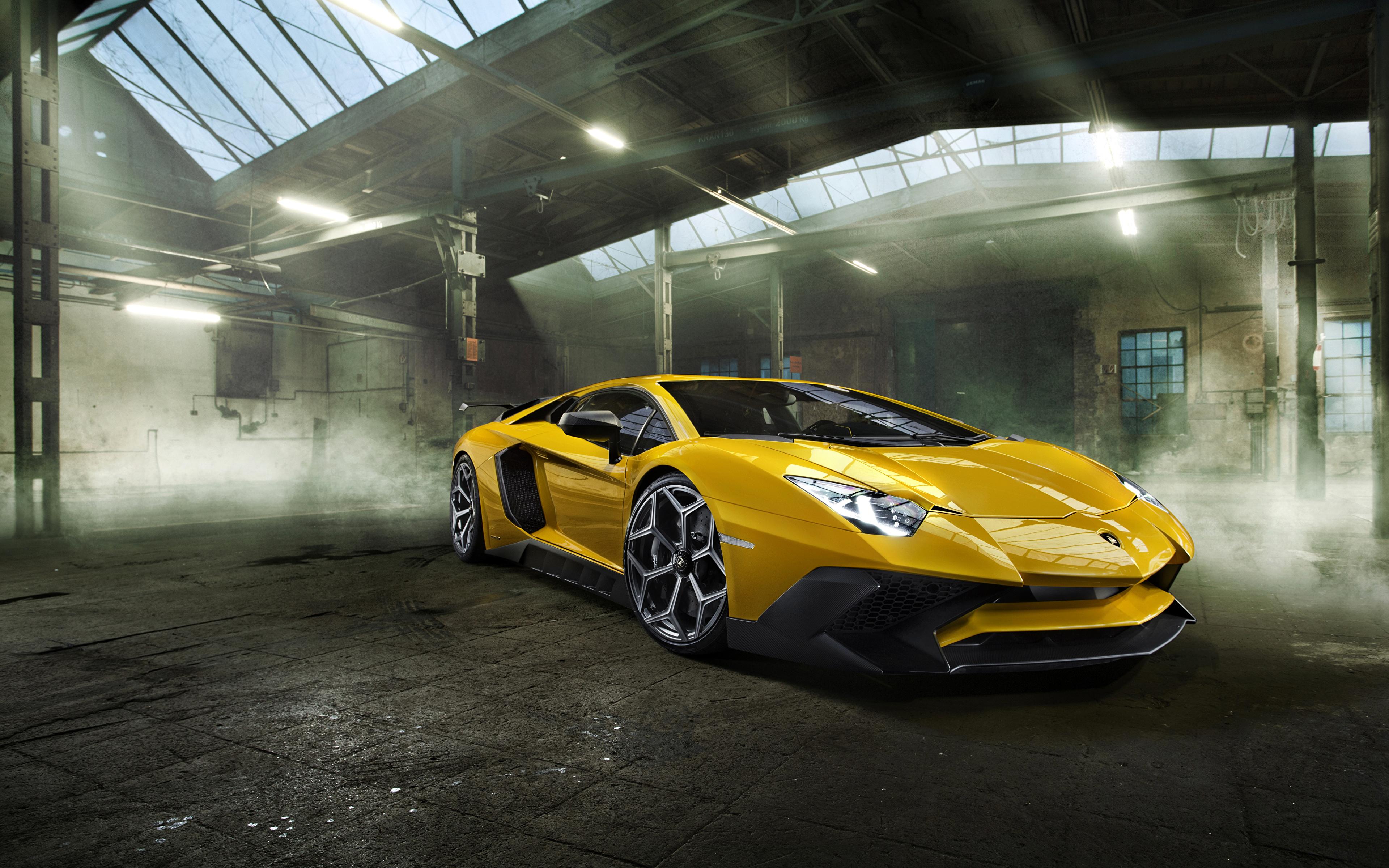 Фотографии Ламборгини 2016 Novitec Torado Aventador LP 750-4 Superveloce желтые машина Металлик 3840x2400 Lamborghini желтых Желтый желтая авто машины автомобиль Автомобили