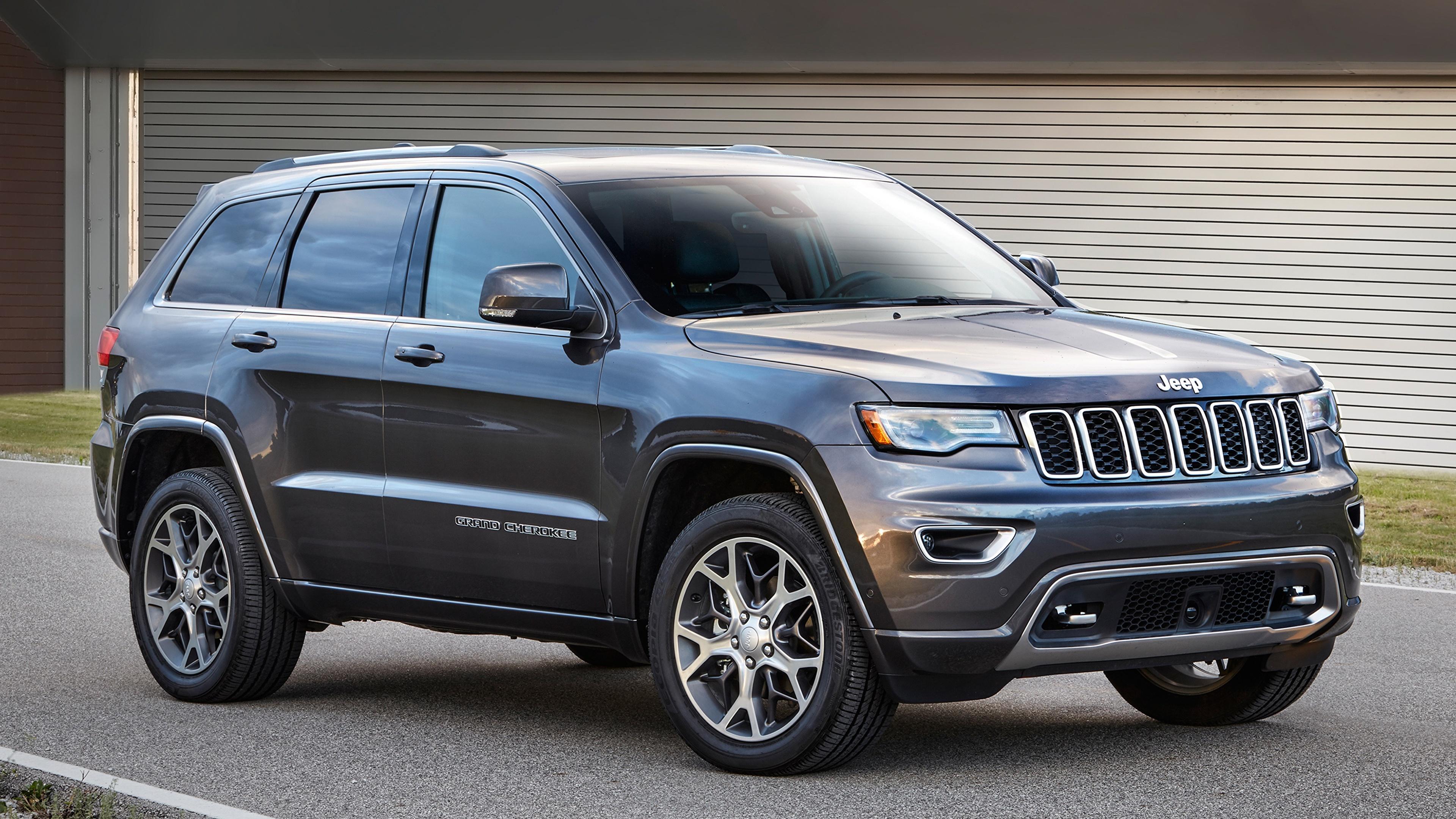 Фотографии Джип Внедорожник Grand Cherokee, Sterling Edition, 2017 Серый машины 3840x2160 Jeep SUV серая серые авто машина Автомобили автомобиль