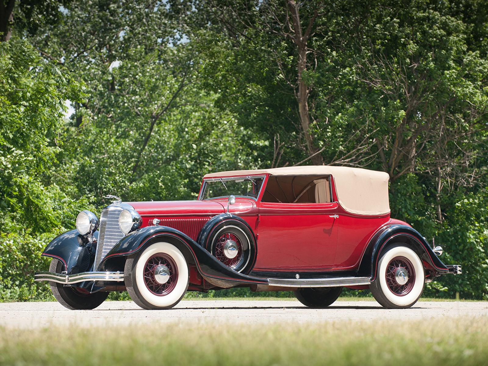 Картинка Lincoln KA Roadster by Dietrich 1933 Родстер авто 1600x1200 машина машины автомобиль Автомобили
