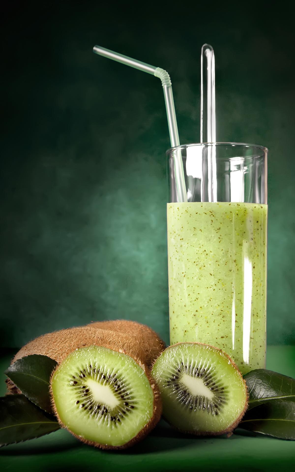 Фотография Сок Киви Стакан Еда 1200x1920 стакана стакане Пища Продукты питания