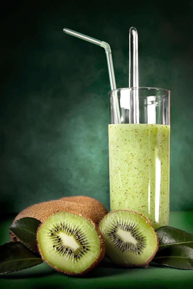 Фотография Сок Киви Стакан Еда 640x960 для мобильного телефона стакана стакане Пища Продукты питания