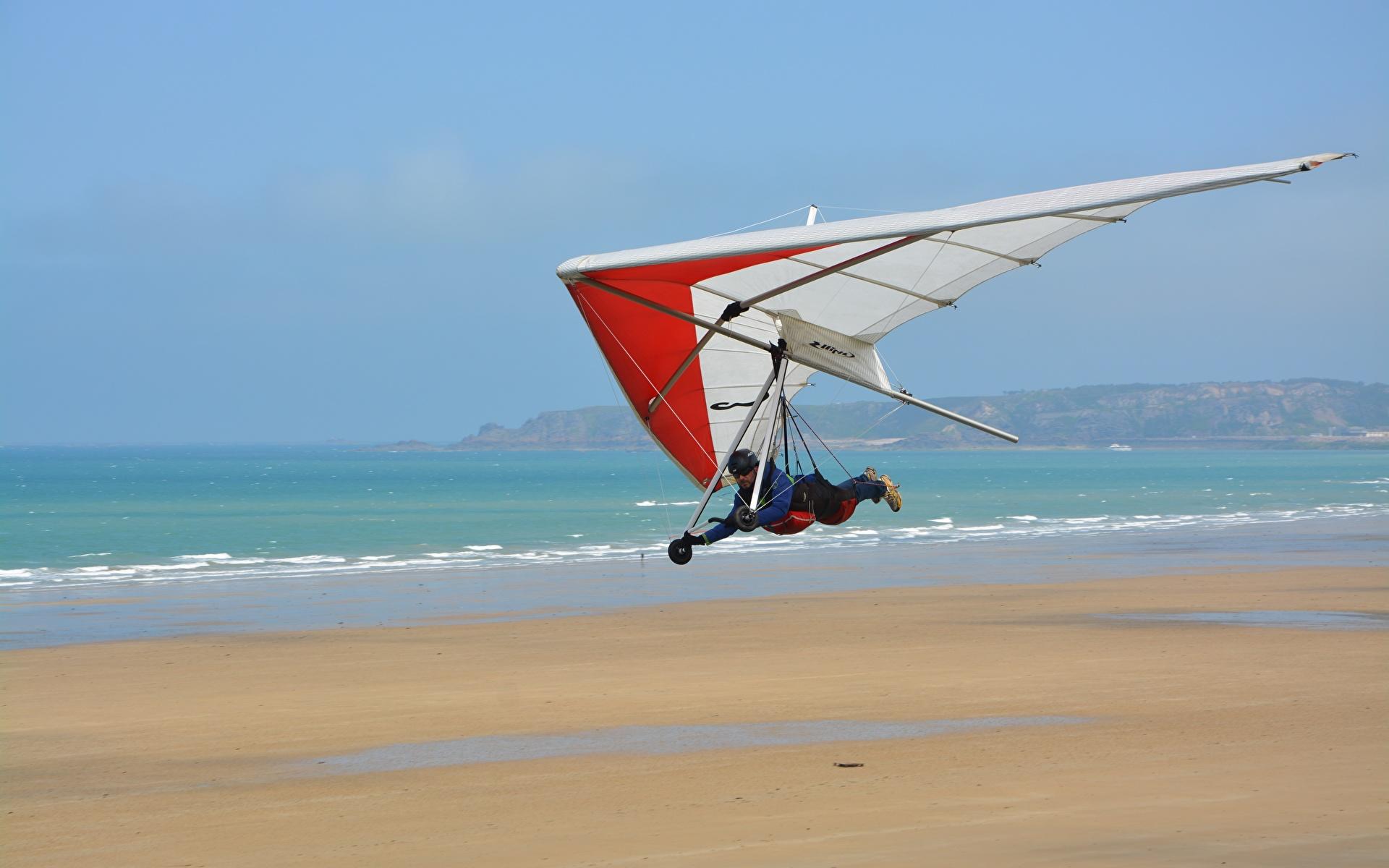 Обои для рабочего стола Hang-gliding спортивные летит 1920x1200 Спорт спортивная спортивный летят Полет летящий