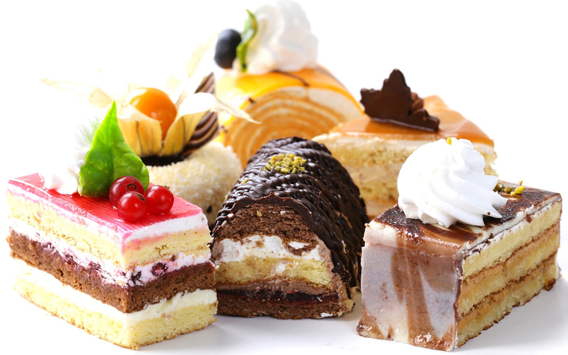 Фото Шоколад Пища Сладости Пирожное Белый фон Дизайн 1920x1200 Еда Продукты питания
