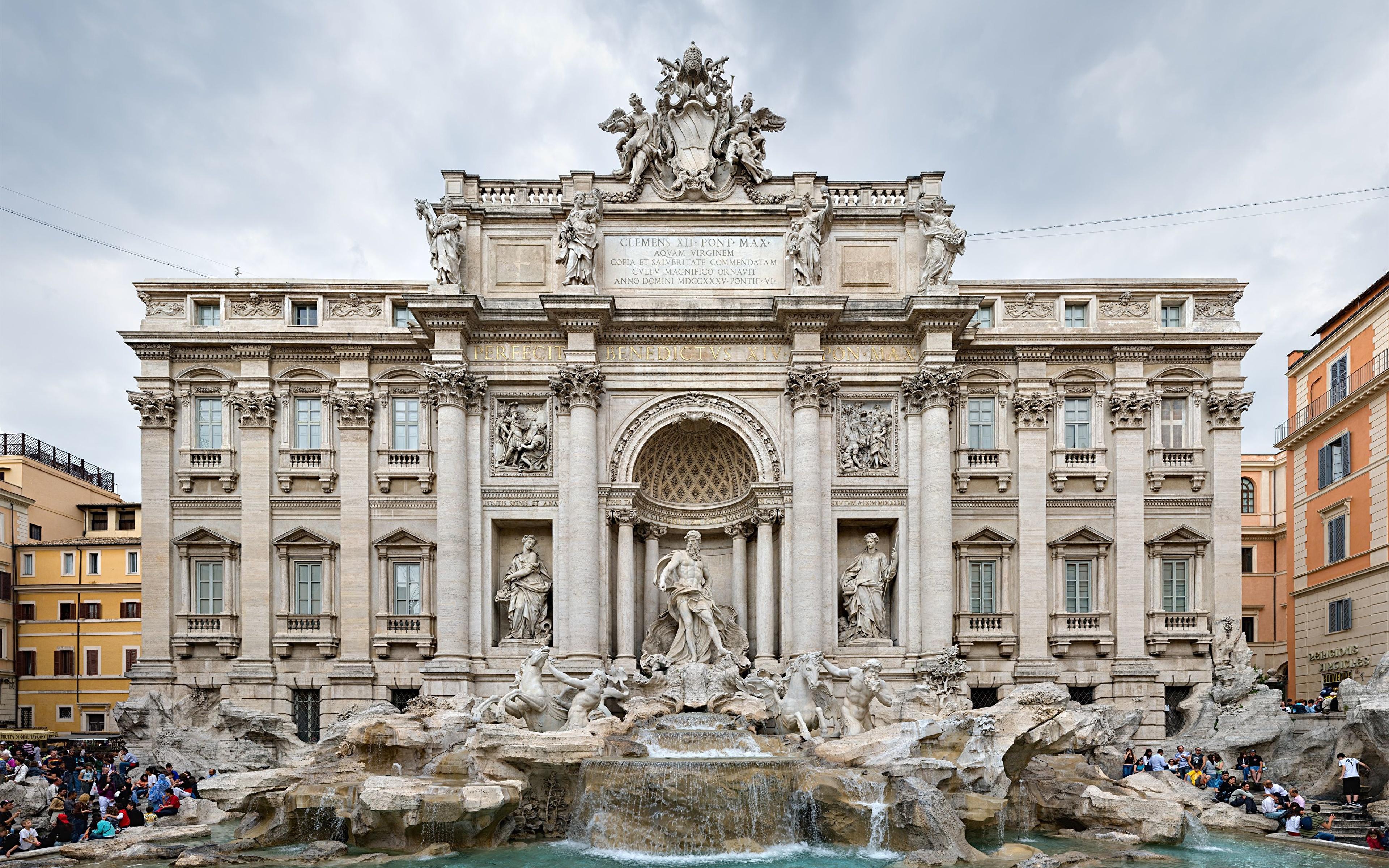 Trevi Fountain, Rome, Italy (Фонтан, Италия Рим) загрузить