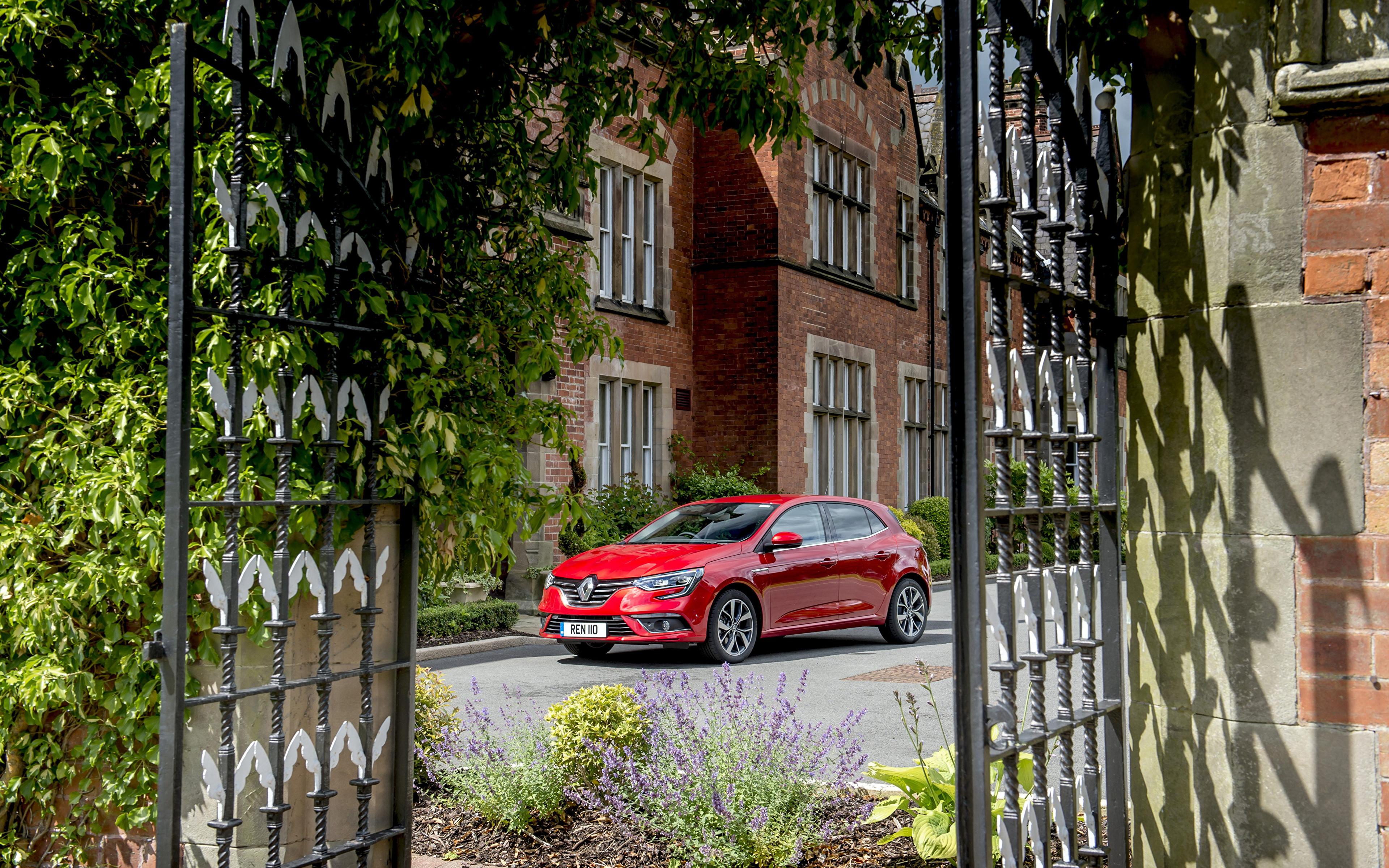 Фото Renault 2016 Megane GT Line красные Металлик Автомобили 3840x2400 Рено красных Красный красная авто машина машины автомобиль