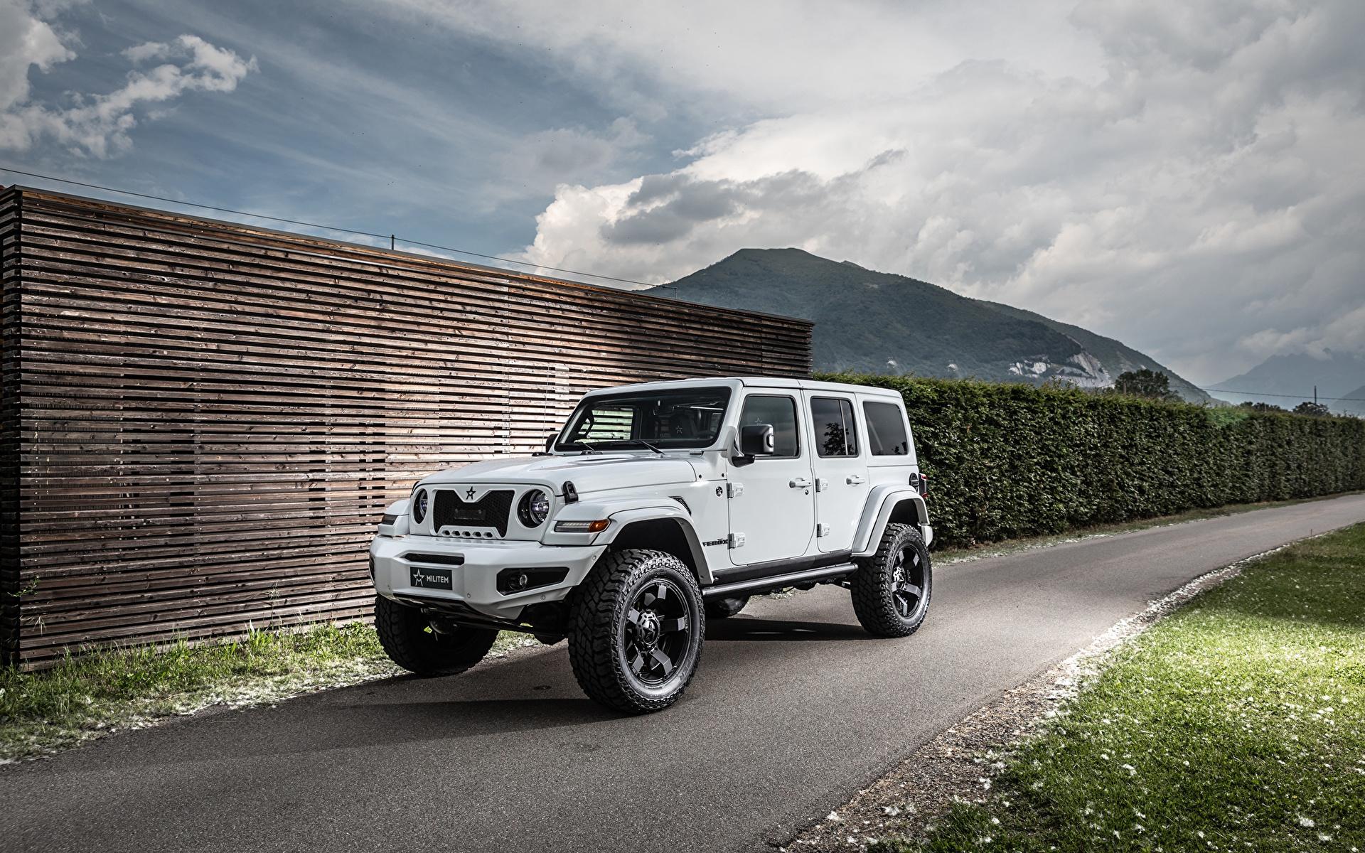 Фотографии Джип Внедорожник 2019 Militem Ferōx белые Автомобили 1920x1200 Jeep SUV белая Белый белых авто машины машина автомобиль