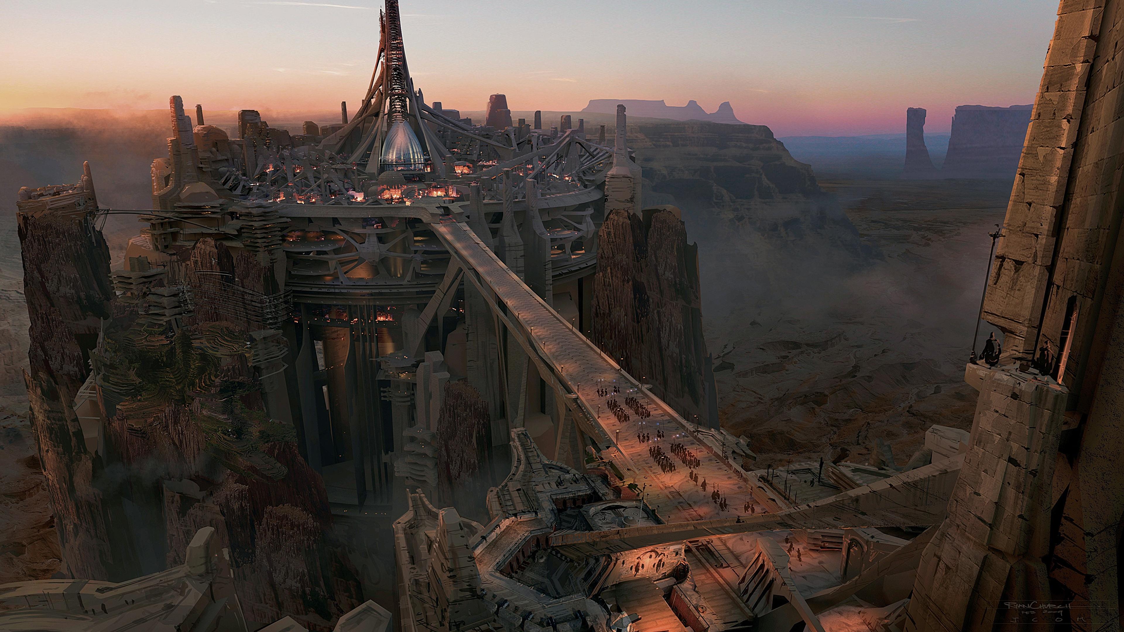 Фантастический город на скалах бесплатно