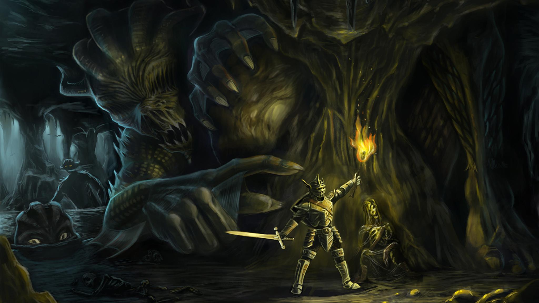 Рыцарь с чудовищем смотреть