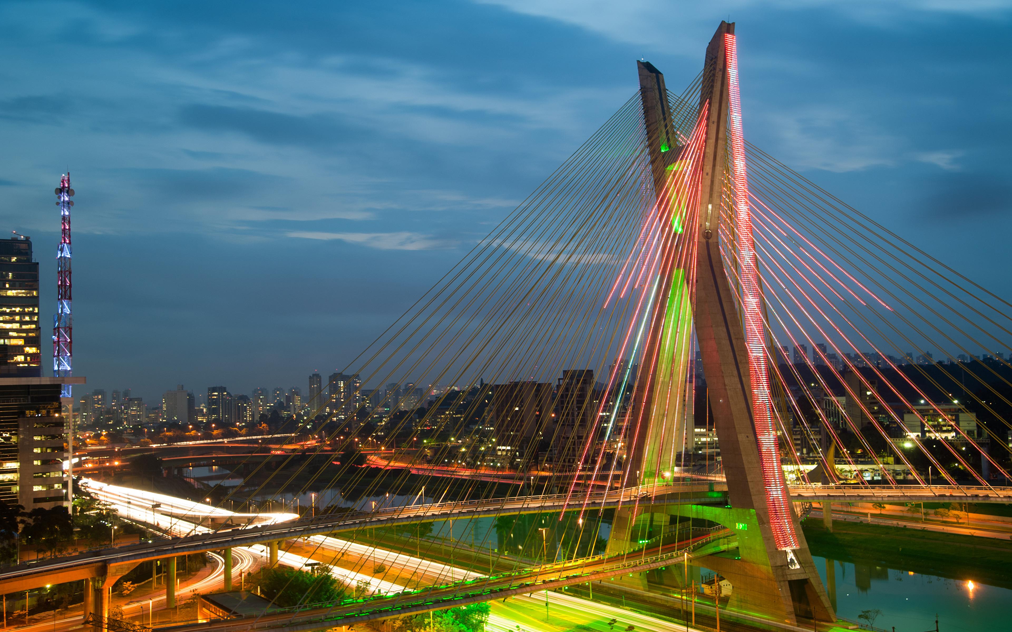Обои sao paulo, мосты, Бразилия. Города foto 6