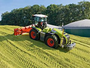 Картинка Сельскохозяйственная техника Поля Трактора 2010-20 Claas Xerion 5000 Trac VC