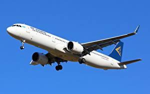 Картинки Airbus Самолеты Пассажирские Самолеты Air Astana, A321neo