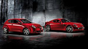Фотография Альфа ромео 2 Красная Металлик авто