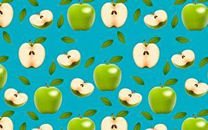 Картинка Яблоки Текстура Зеленых Еда