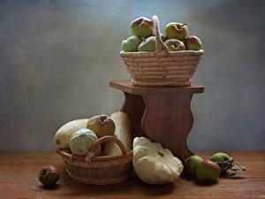 Фото Яблоки Овощи Корзины Продукты питания