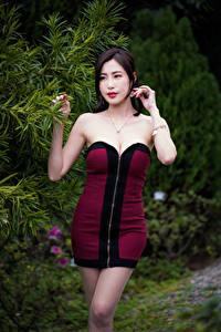 Фотография Азиаты Платье Поза