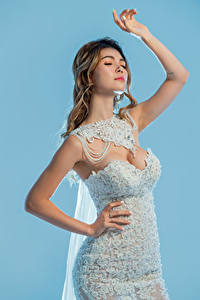 Обои Азиатки Поза Платье Рука Невеста Девушки