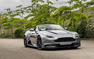 Картинка Aston Martin Кабриолета Серый Родстер Vantage Roadster Автомобили