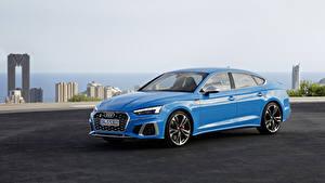 Фотография Audi Голубая Металлик 2019 S5 Sportback TDI Worldwide автомобиль