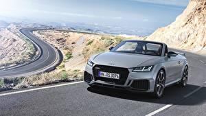 Картинка Audi Серебряный Родстер TT RS 2020 Автомобили