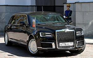 Картинка Aurus Черная Металлик 2018-19 Senat Limousine L700 машина