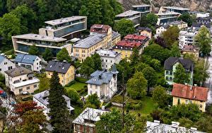 Фотография Австрия Зальцбург Здания Краши Сверху город