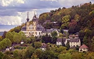 Фотография Осенние Германия Церковь Wurzburg The Käppele
