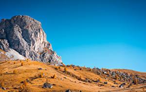 Обои Осенние Гора Италия Парк Чинкве-Терре парк Скала