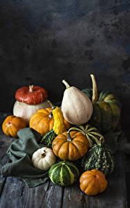 Обои Осенние Тыква Доски Пища