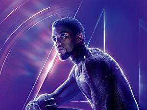 Фото Мстители: Война бесконечности Мужчина Негр Chadwick Boseman Знаменитости