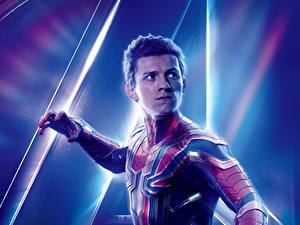 Картинка Мстители: Война бесконечности Человек паук герой Tom Holland Знаменитости