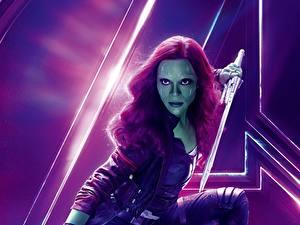 Фотография Мстители: Война бесконечности Zoe Saldana Gamora Девушки Знаменитости