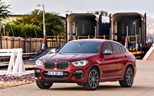 Фото BMW Кроссовер Бордовый 2019 X4 M40d Автомобили