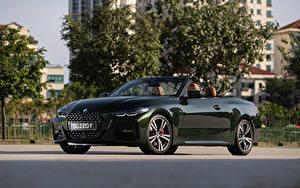 Обои БМВ Зеленые Металлик Кабриолет 2021 430i Cabrio M Sport Автомобили