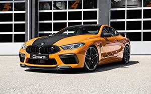 Картинка BMW Оранжевых Металлик 2021 G-Power G8M Hurricane RR Автомобили