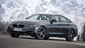 Обои BMW Серый Купе 4-series, Gran Coupe, Sport Line, 2017 машина