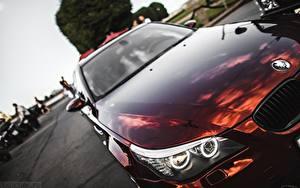 Фотографии BMW Фар Бордовые E60 5 series Автомобили