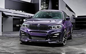 Фото BMW Фиолетовый Металлик F16 Lumma Design X6R автомобиль
