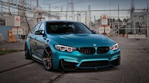 Обои для рабочего стола BMW Металлик Голубой M3 Автомобили