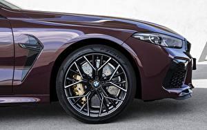 Обои BMW Колесо Сбоку Фар M8 Gran Coupe Competition F93 авто