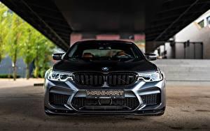 Фотография BMW Спереди Черная Manhart M5 V8 F90 2019 4.4 MH5 800 815 Автомобили