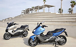 Картинка BMW - Мотоциклы Скутер Два C Series
