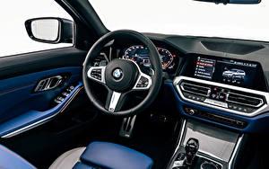 Обои БМВ Салоны Автомобильный руль M340i xDrive Touring, Worldwide, G21, 2020 автомобиль