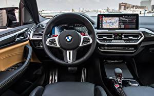 Картинка BMW Салоны Рулевое колесо X3 M Competition, (Worldwide), (F97), 2021 автомобиль
